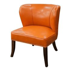 Orange Vinyl Accent Chair | Nebraska Furniture Mart