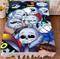 Anime Gmae Undertale Sans Flat Summer Bed Sheet Blanket Bedding Gift  | Collectibles, Animation Art & Characters, Japanese, Anime | eBay!