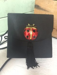 Marg of Pepper Pike ~ Lady Bug ~ Black Purse Shoulder Bag Evening Fancy Handbag  #MargofPepperPike #EveningBag