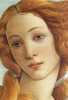 Close up from painting, Birth of Venus by Botticelli. This painting is big and can be seen in Florence, Italy at the Uffizi Museum. Renaissance Kunst, Renaissance Paintings, Italian Renaissance, Art Du Monde, Italian Art, Face Art, Painting & Drawing, Cave Painting, Art History