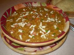 Mexican Lentil Soup With Panela Cheese. Photo by TasteTester