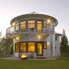 Upcycled Silos Turned Homes. I love this, really love this.