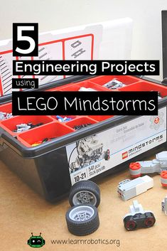 Dust off your Lego Mindstorms kit with these 5 Engineering Projects! Great for electives, extracurricular clubs, and engineering classrooms. Lego Nxt, Lego Robot, Lego Duplo, Robot Art, Robotics Projects, Arduino Projects, Lego Projects, Vex Robotics, Learn Robotics