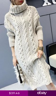 32 New Ideas For Dress Pattern Winter Fashion Hipster Fashion, Knit Fashion, Sweater Fashion, Trendy Fashion, Fashion Art, Knit Skirt, Knit Dress, Trendy Dresses, Fashion Dresses