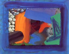 Escape Into Life - Howard Hodgkin: After Visiting David Hockney, (second version), 1991 – oil on wood, 19 ¼ x 24 ¼ inches David Hockney, Abstract Painters, Abstract Landscape, Contemporary Abstract Art, Modern Art, Howard Hodgkin, Sculpture, Abstract Expressionism, Modernism