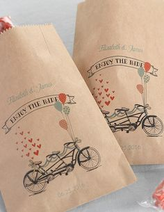 'enjoy the ride' treat bags