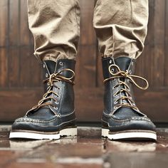Fancy - Navy Hunt Boots by Oak Street Bootmakers