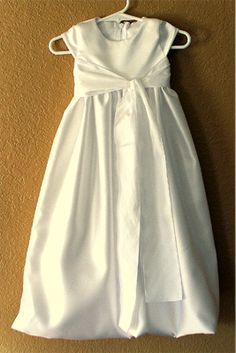 Designed as a Baptism Gown, but I think the style with the sash would be a lovely First Communion Dress. Baby Girl Baptism, Baptism Dress, Christening Gowns, My Baby Girl, Blessing Dress, Baby Blessing, Kids Gown, Gown Pattern, Diy Clothes