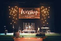 Image result for finished wood stage wall