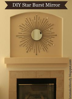 Diy Star Burst Mirror  •  Free tutorial with pictures on how to make a starburst mirror in 11 steps