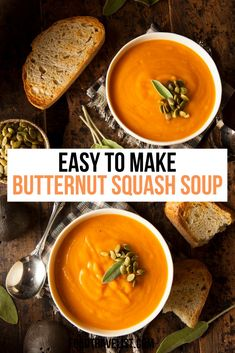 Check out our easy peasy butternut squash soup recipe. We've also got some suggestions for other tasty things to do with butternut squash. If you're looking for something health to do with your butternut squash we have lots of great recipes ideas for you. #butternutsquashsoup #recipe #souprecipe