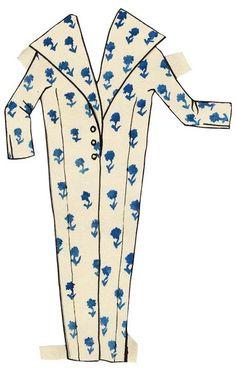 Yves Saint Laurent - Paper Dolls - 1953-55 - Manteau Maxi