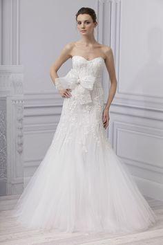 Monique Lhuillier Spring 2013 wedding dress