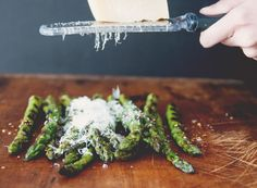 Grilled Asparagus with Chile and Truffle Oil   Rue
