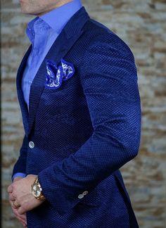 S by Sebastian Sky Blu Silky Poplin Dress Shirt - Blazer Outfits Men, Mens Fashion Blazer, Mode Masculine, Marcelo Mello, Sky Blue Blazer, Blue Suit Men, Der Gentleman, Style Masculin, Designer Suits For Men