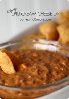 chili cream cheese dip, a super easy and delicious appetizer