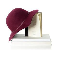 Mark & Graham Short Brimmed Wool Hat, Size Small, Burgundy ($25) ❤ liked on Polyvore featuring accessories, hats, burgundy, ribbon hat, floppy brim hat, bohemian hats, monogrammed hats and wool hat