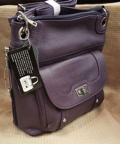 Leather Handbag Locking Conceal Carry Holster Gun Purse Cross body PURPLE R&L   Clothing, Shoes & Accessories, Women's Handbags & Bags, Handbags & Purses   eBay!