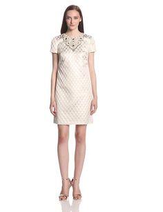 Maggy London Women's Honeycomb Brocade Shift Dress