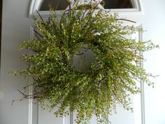 24 Peppergrass Wreath Greenery Wreath Summer by CountrysideFlorals