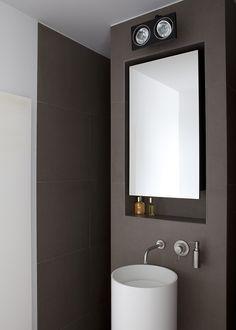 Boffi Minimal REDM03 basin mixer with Boffi Minimal RIDM06 basin spout # modern bathroom with Boffi taps, available via inoxtaps.com