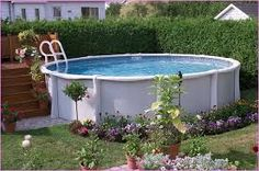 Image result for landscaping an above ground pool