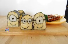 Minions Maki-Sushi (deco-sushi) Bento
