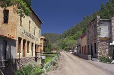 Mogollon, New Mexico--the drive through the steep, winding mountains to see this Ghost Town was absolutely amazing.