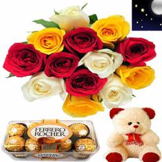 Midnight Birthday Special : buy flowers online, buy cake online, send flowers, cakes to India