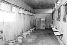 A public toilet at the Royal Navy (Cockatoo Island).