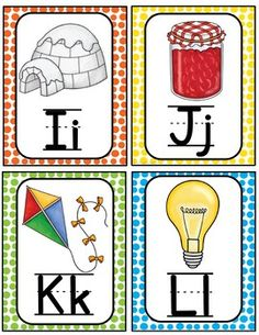 Alphabet Word Wall Cards & ABC Chart by Teaching Superkids Alphabet Flash Cards Printable, Alphabet Wall Cards, Alphabet Words, Alphabet Pictures, Abc Alphabet, Alphabet Activities, Word Wall Kindergarten, Handwriting Worksheets For Kids, Abc Chart