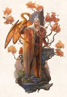 Monarchs by sandara on DeviantArt Fantasy Character Design, Character Design Inspiration, Character Concept, Character Art, Concept Art, Elves Fantasy, Fantasy Rpg, Fantasy Artwork, Dungeons And Dragons Characters