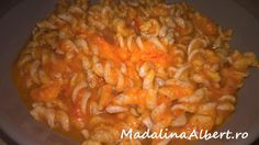 Paste integrale cu sos de morcovi Paste, Macaroni And Cheese, Shrimp, Meat, Dinner, Ethnic Recipes, Food, Dining, Mac And Cheese