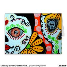 "Greeting card Day of the Dead ""Dos Caras"""