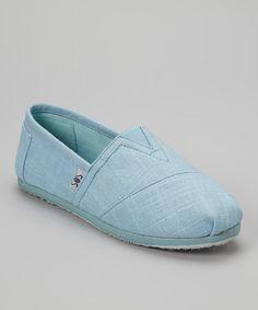 Look what I found on #zulily! Blue Woven Slip-On Shoe #zulilyfinds