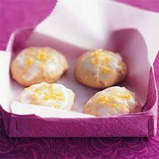 Lemon-Honey Drop Cookies Recipe Healthy Cookies, Healthy Desserts, Delicious Desserts, Dessert Recipes, Healthy Treats, Healthy Eating, Finger Desserts, Dessert Tray, Lemon Desserts