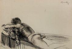 ARTISTIC QUIBBLE Giacomo Manzù (1908-1991) Reclining Model, 1954