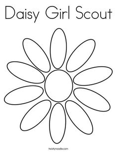 Flower Friends Coloring Page daisy scouts Pinterest Flower