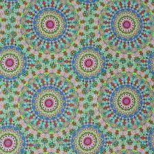 Kreativstoff Baumwollstoff PI Mandala orientalisch blau