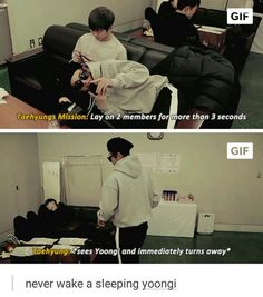 If you're going to wake up a sleeping Yoongi you're asking for your death already