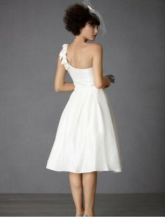 beach wedding dresses Short Wedding Dresses with Bow