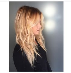 Shadowed root for a beautiful natural blonde