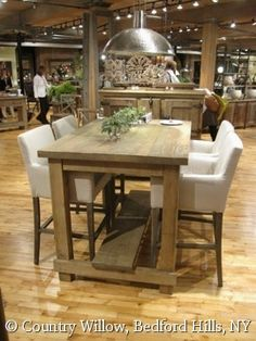Reclaimed Fir Bar Height Dining Table With Gusseted Steel Base Classy Willow Dining Room Menu 2018