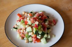 Chopped Salad with Garbanzo Beans.