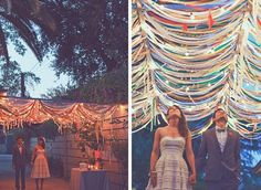 The ribbon ceiling... Love it! Would look so cool on the back porch at his grandmas!
