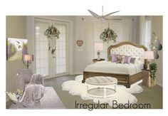 """Irregular Bedroom Contest"" by neicy-i ❤ liked on Polyvore featuring interior, interiors, interior design, home, home decor, interior decorating, UGG Australia, ESPRIT, Nearly Natural and Hooker Furniture"