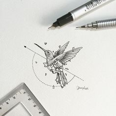 Geometric Beasts | Hummingbird  Smallest so far.: