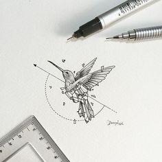 Geometric Beasts | Hummingbird Smallest so far.: