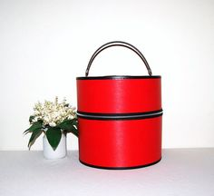 50s Red Hat Box by CheekyVintageCloset on Etsy, $42.00