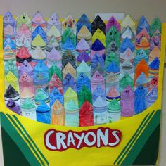 Our kindergarten class put together the crayon box that talks after our MLK lesson!